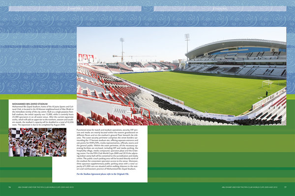 Funktionale Planung Mohammed Bin Zayed Stadion (Ebene 0 und 1)