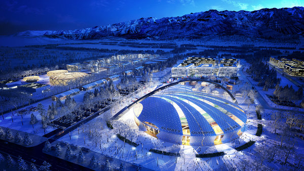 Visualisierung Almaty Olympic Arena