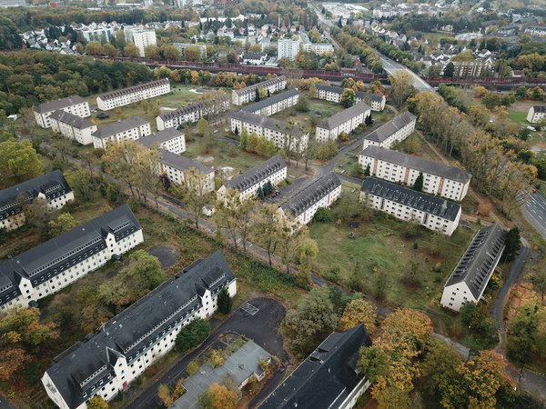 Luftbild Triangle Housing, Oktober 2017